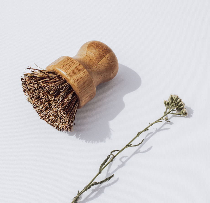 Круглая деревянная щетка для посуды EcoFamily