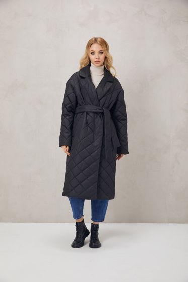 Пальто стеганое/ пуховик женский / куртка женская/ пальто зимнее чёрное