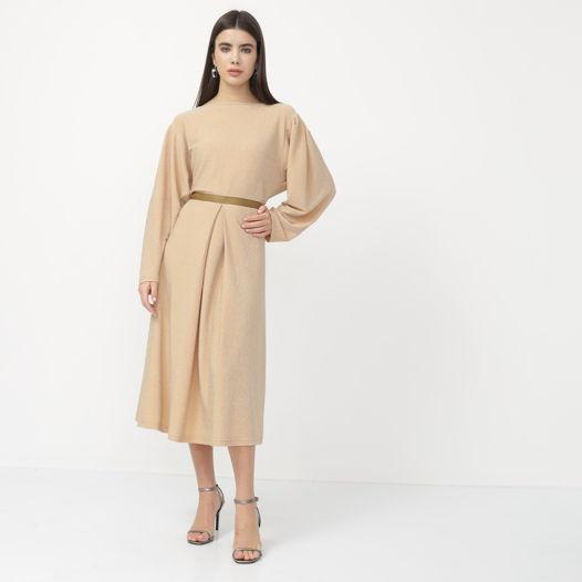 Платье золотое А-силуэта