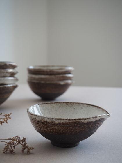 Керамический соусник ручной работы