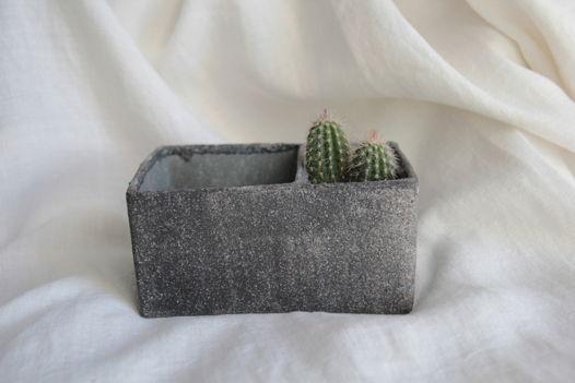 Керамическая коробка для хранения/Кашпо