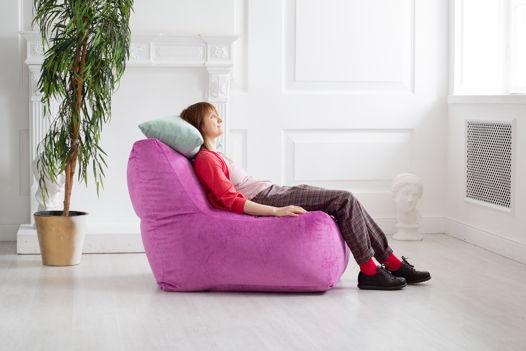Бескаркасное кресло из велюра Magenta
