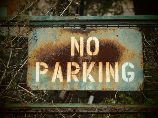 """Фотография для интерьера """"No Parking""""."""