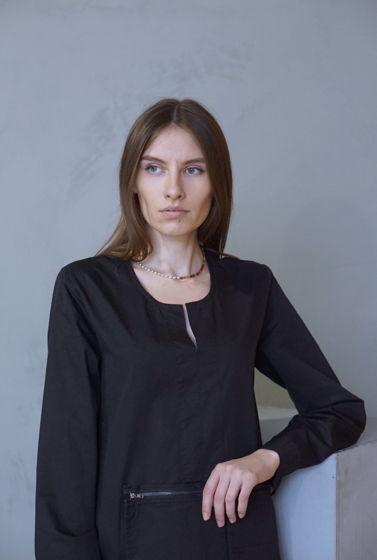 Платье из хлопка чёрного цвета