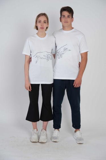 Парные футболки с вышивкой