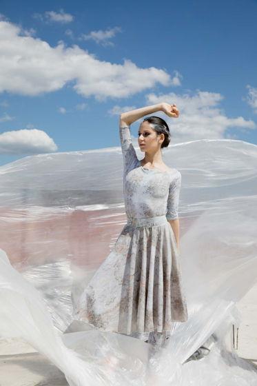 Двусторонняя репетиционная юбка, испачканная принтом для танцев / хореографии