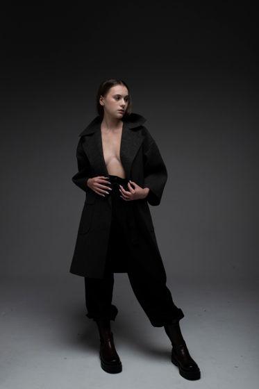 Пальто из шинельной ткани