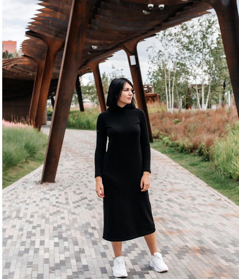 Платье черное (футер)