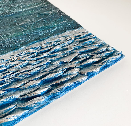 """Текстурная интерьерная картина """"Морской Дракон"""", 30х35х1см"""