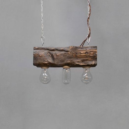 Подвесной светильник из дерева Cube_03 Венге