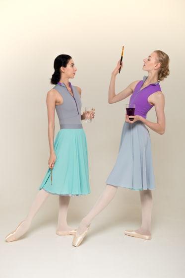 H2O (двусторонняя репетиционная юбка) для танцев / хореографии