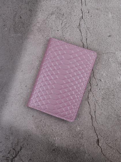 """Обложка для паспорта """"Verona"""" Питон Розовый"""