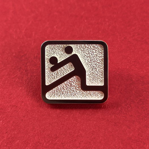 Серебряный значок Волейбол Олимпиада 80