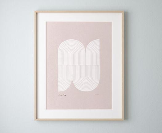 «Абстрактная фигура» / Шелкография, тираж 20 экз