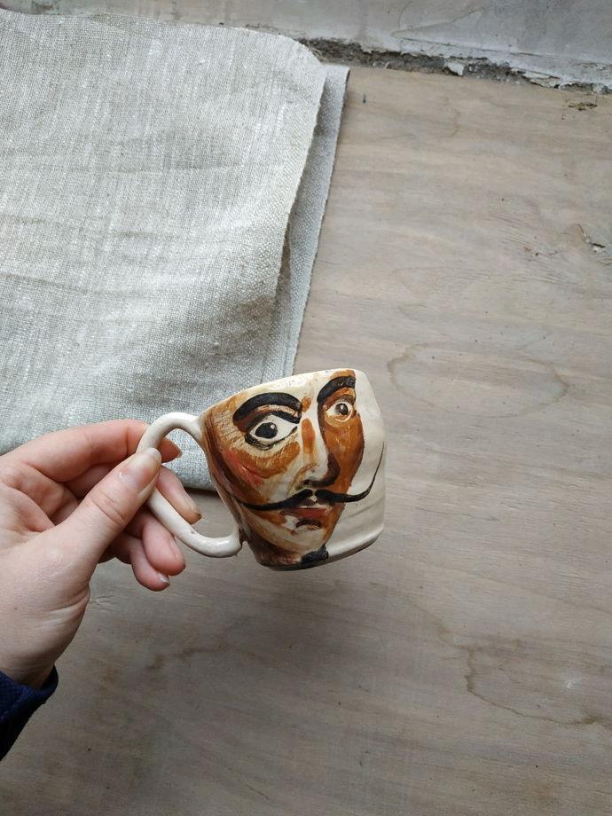 Чашки Великих художников. Ван гог , Фрида Кало , Дали и другие