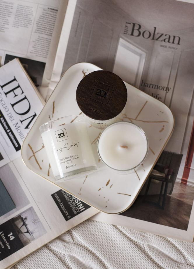 Ароматическая свеча 190 мл, Chocolate & Amber, Шоколад и амбра