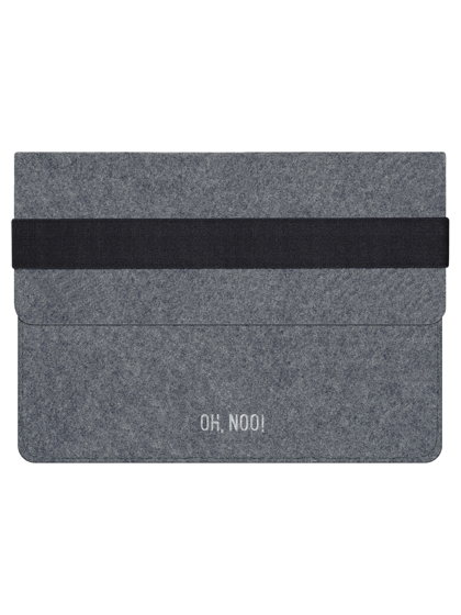 Чехол из фетра для iPad и планшетов, темно-серый, горизонтальный с крышкой