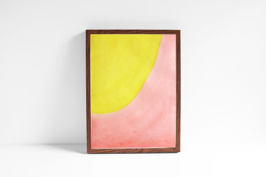 """Акварельный рисунок """"Лучи цвета: персиково-лимонный №2"""""""