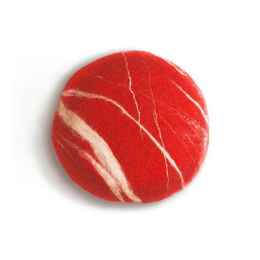 """ПОДУШКА-КАМЕНЬ. Модель """"Красный камень""""(35см)"""