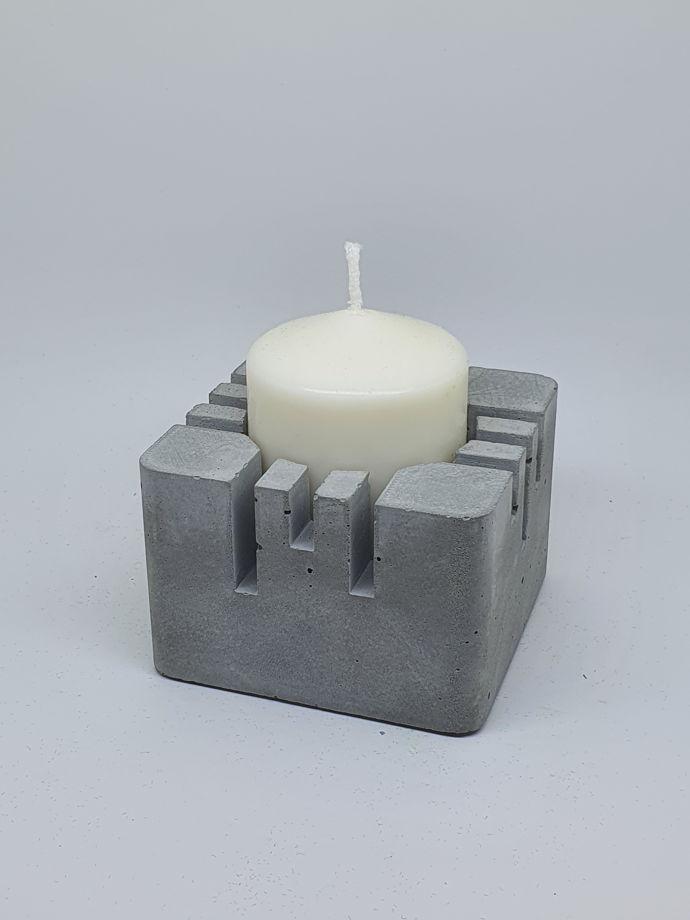 """Подсвечник из бетона """"Киото"""" для свечи"""