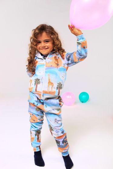 Утепленный осенний костюм с акварельным принтом Vitamin Sea.