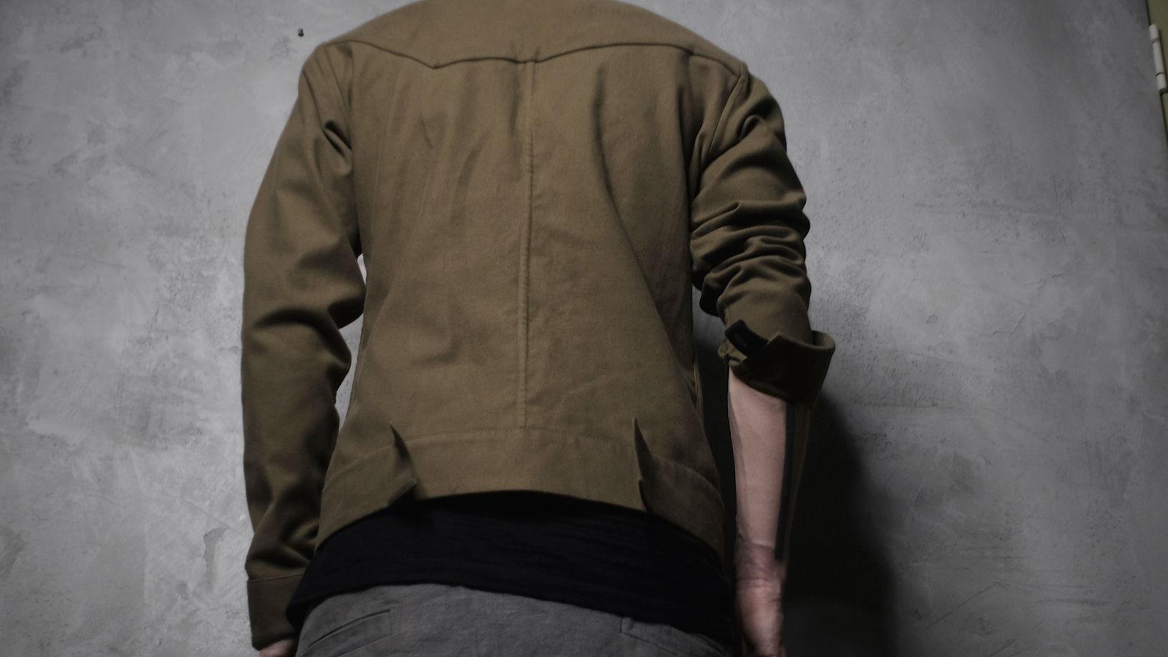 джинсовая куртка ассиметричного кроя N13L
