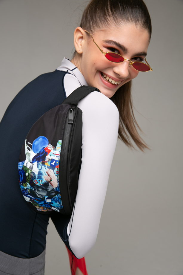 Уникальная поясная сумка Active Alien с авторским принтом, Unisex👽 ⠀