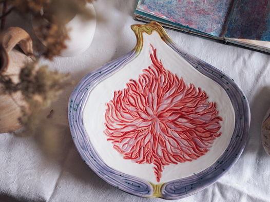 Керамическое блюдо Инжир