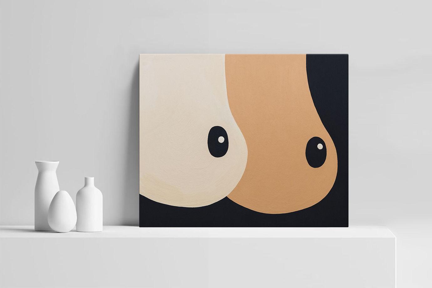 Картина Ordinary #bOObs на галерейном подрамнике