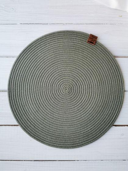 Сервировочные салфетки из хлопкового шнура