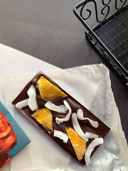 «Плитка» ручной работы без сахара с манго и кокосом. Лимитированная серия.