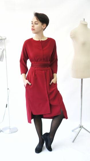 Платье Кимоно | вино