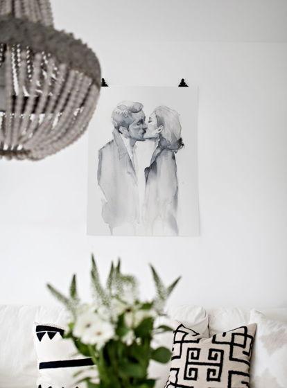 """""""RETRO LOVERS"""" лирический постер в монохромной технике"""