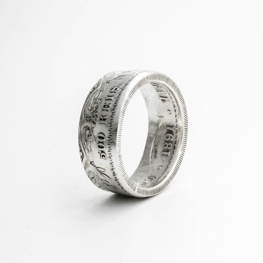 Кольцо из монеты - Португалия 500 рейс