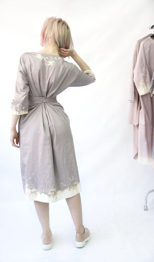 Платье Кимоно | серо-сиреневый