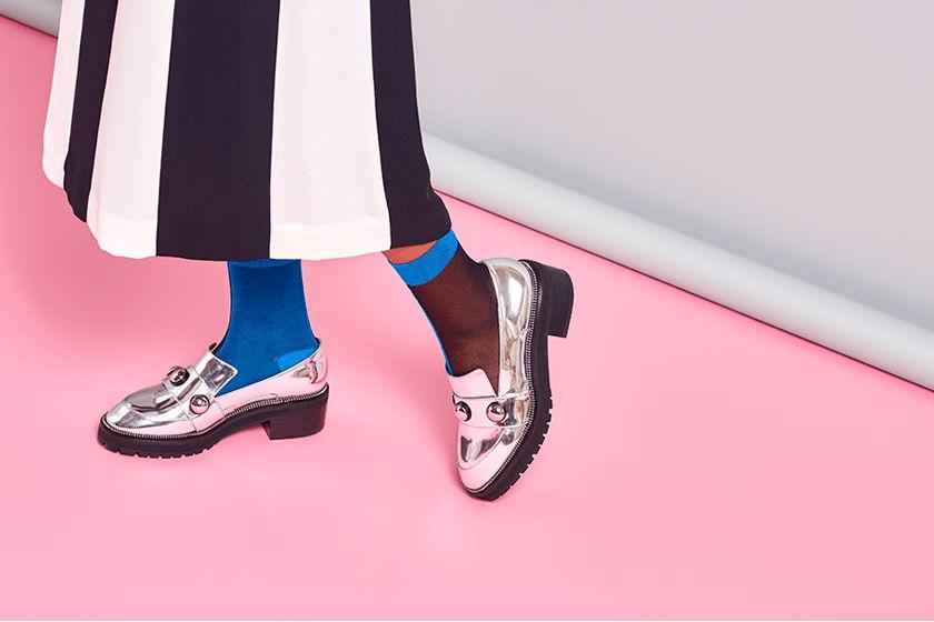 Носки для девушек Hysteria Filippa Nylon Ankle - Blue/Black