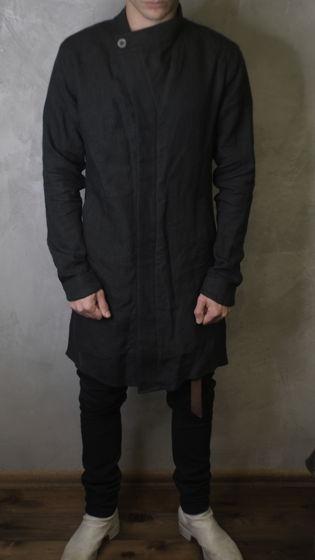 тренч пальто льняное ассиметричного кроя