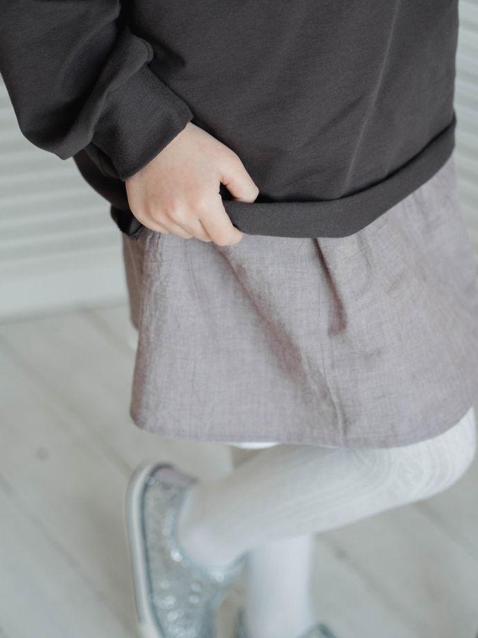 Двухслойная юбка хлопок&лён