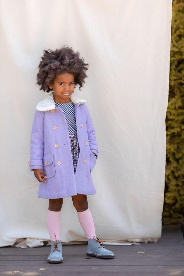 Пальто для девочки (лавандовое)