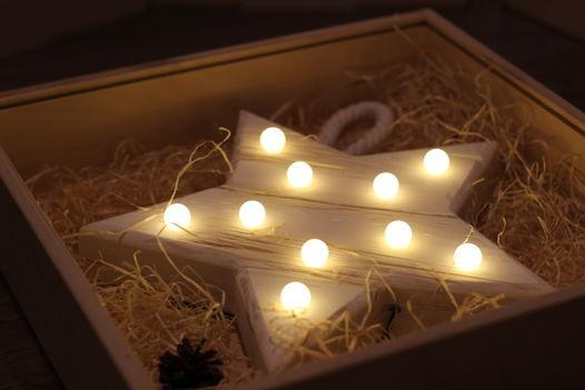 ЗВЕЗДА  — Авторский светильник, ночник из дерева ручной работы