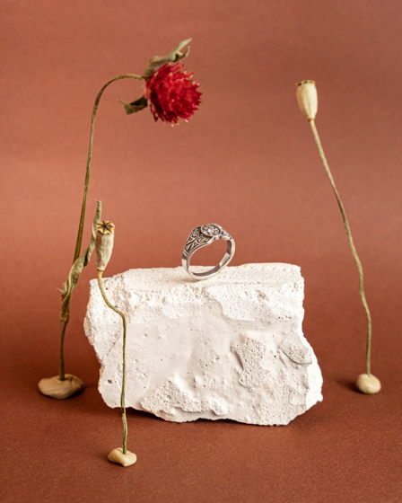 Серебряное кольцо Hazna