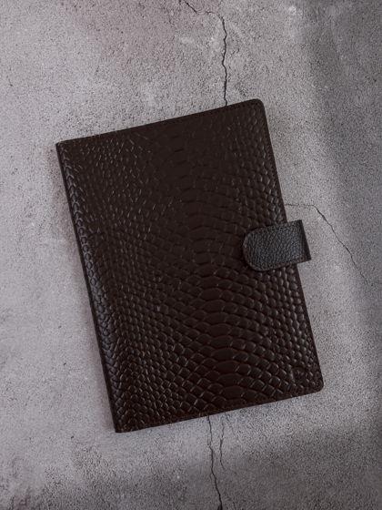 Мини-органайзер для документов А5 Питон Горький шоколад