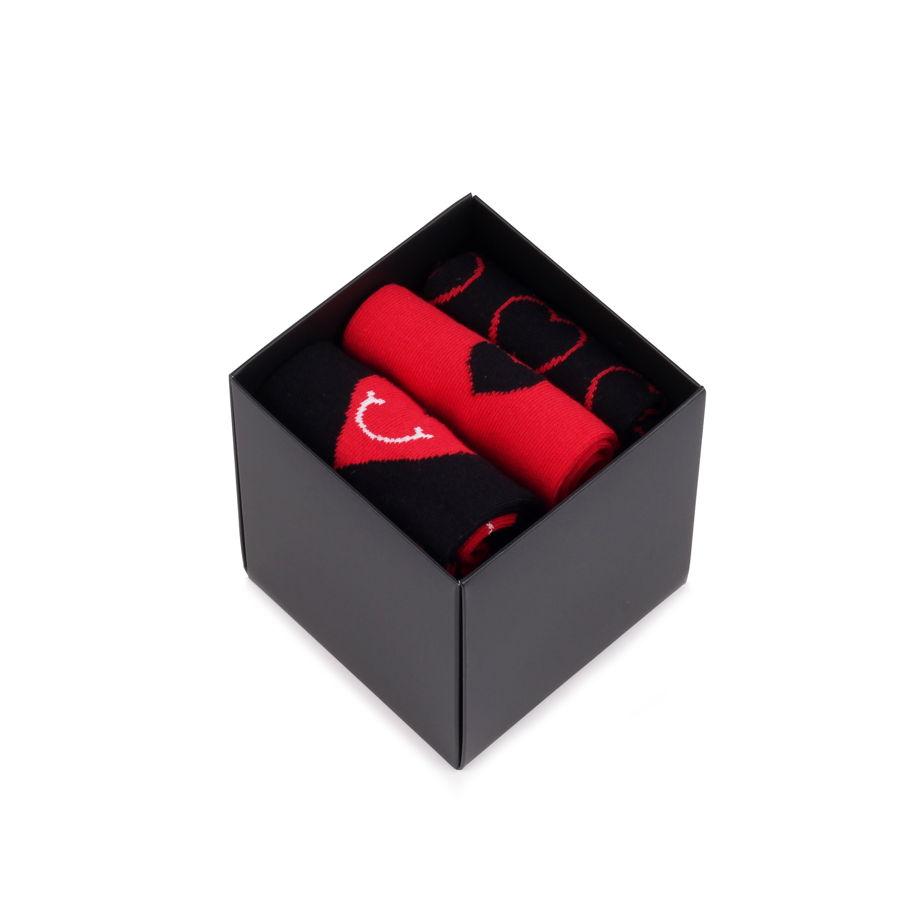 Носки в подарок на день святого Валентина Happy Socks Набор из 3-x пар носков - I Love You - Куб