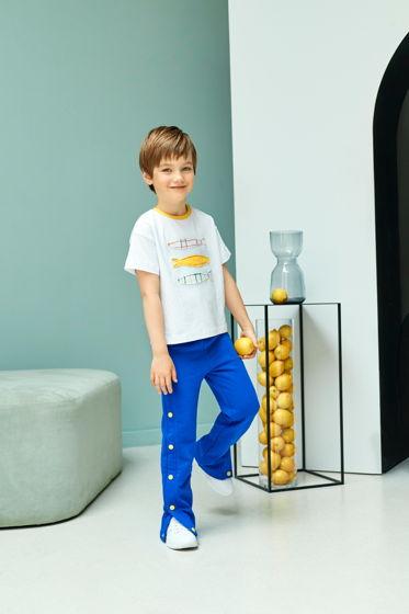 Спортивные брюки из футера цвета индиго для мальчиков и девочек