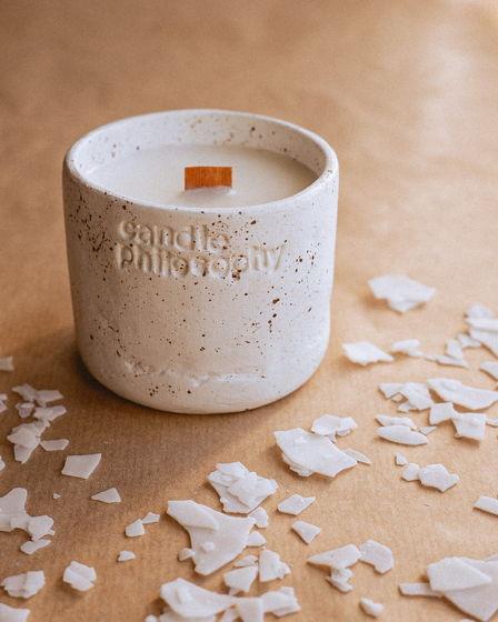 Ароматическая свеча ручной работы из соевого воска