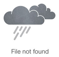 Часы квадратные с круглым белым циферблатом