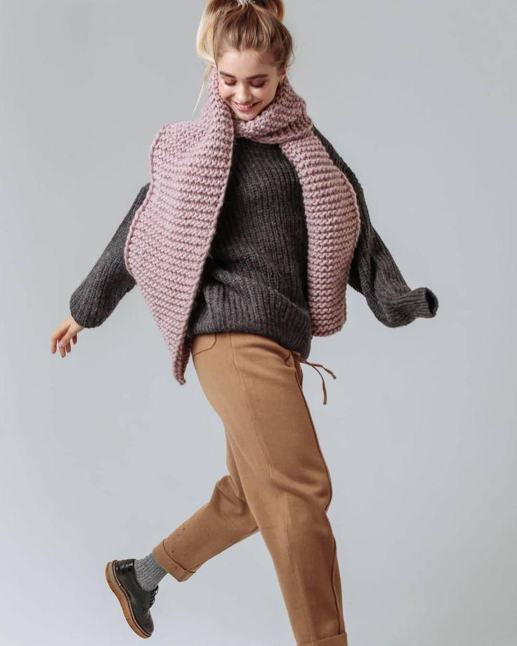 Объемный шарф из шерстит (на заказ, цвета уточняйте при заказе)