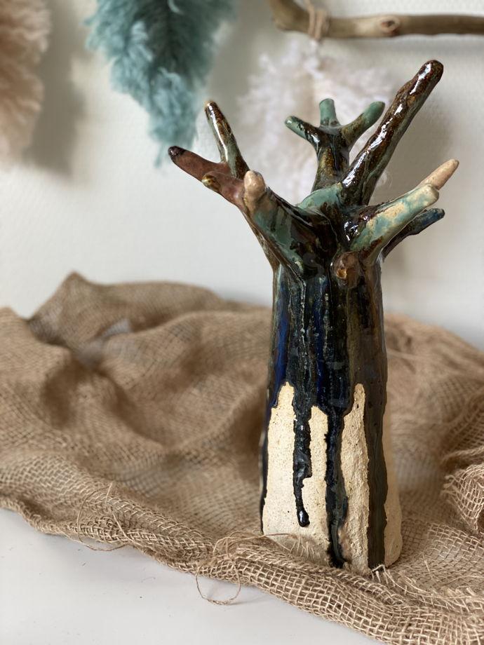 Керамическое дерево (органайзер для украшений)