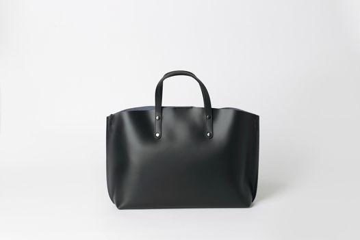 Горизонтальный TOTE в черном - NOVA - leather tote bag. Доставка 7/10 дней