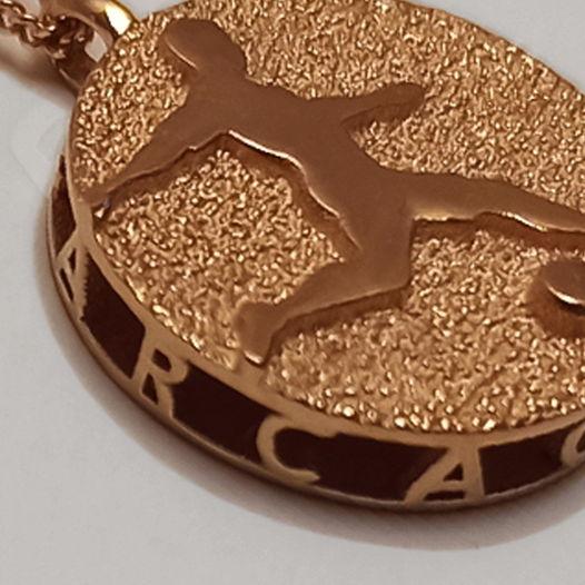 Именная золотая подвеска Медаль для футболиста